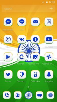 Elegant India Trio Flag Theme apk screenshot
