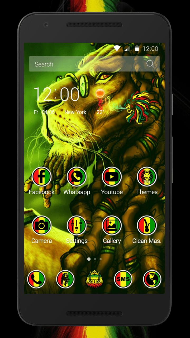 Reggae Rasta Lion Launcher for Android - APK Download