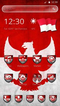 Happy Indonesia Independence day Theme 2D poster