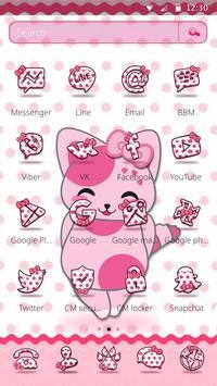 Cute Pink Kitten Blush Rose Theme screenshot 3