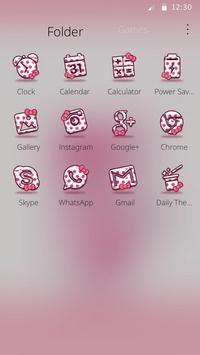 Cute Pink Kitten Blush Rose Theme screenshot 5