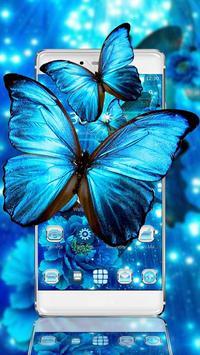 Blue Neon Butterfly Theme screenshot 4