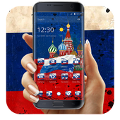 Russian federation flag day theme icon