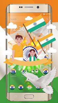 Independence Day Trio Flag wallpaper Theme poster