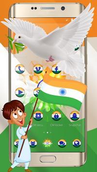 Independence Day Trio Flag wallpaper Theme apk screenshot