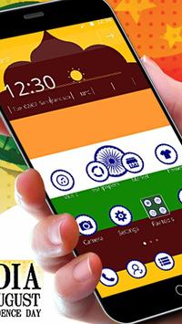 India Independence Day 2D Flag Theme poster