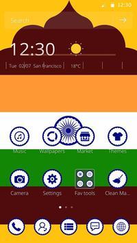 India Independence Day 2D Flag Theme apk screenshot