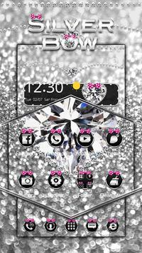 Silver Pink Bow Theme apk screenshot