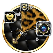 Leopard Print - Diamond Zipper Theme icon