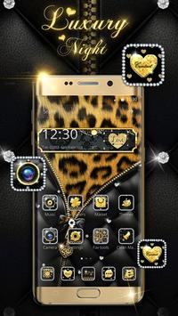 Leopard Print - Diamond Zipper Theme poster