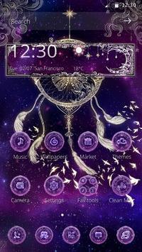 Butterfly Dreamcatcher - Purple Theme apk screenshot