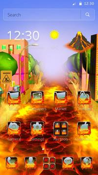 Flowing Lava Theme screenshot 4