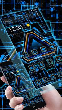 Neon Triangle Tech Theme poster