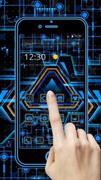 Neon Triangle Tech Theme screenshot 1