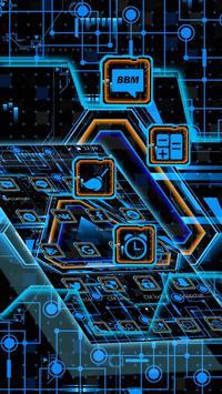 Neon Triangle Tech Theme screenshot 2