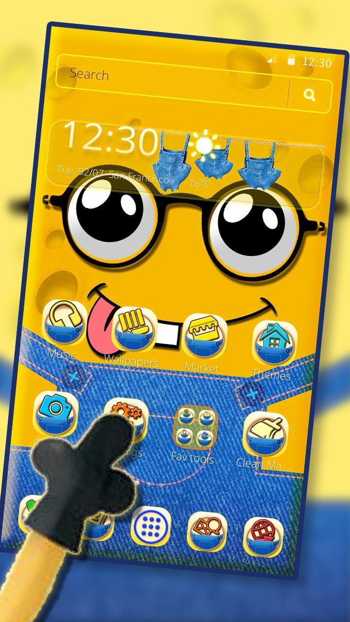 الأصفر لطيف الكرتون الموضوع for Android APK Download