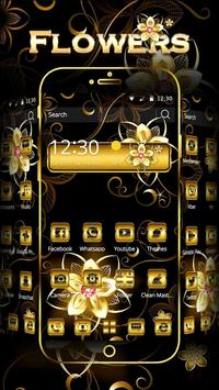 Gold Flowers Theme poster