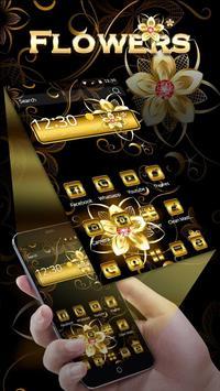 Gold Flowers Theme screenshot 1