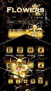 Gold Flowers Theme screenshot 2