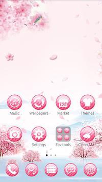 Pink flower rabbit theme poster