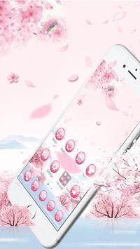 Pink flower rabbit theme screenshot 1