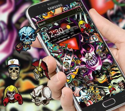 Rock Skull Graffiti Theme & Lock Screen & Call poster