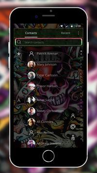 Rock Skull Graffiti Theme & Lock Screen & Call apk screenshot
