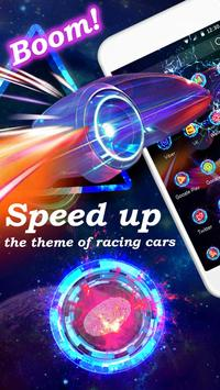 Speed up the theme of racing cars poster