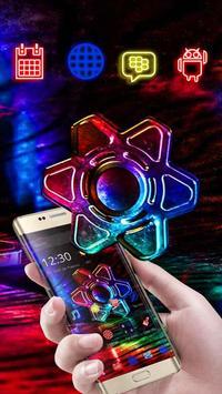 Neon Fidget Spinner Theme poster