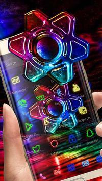 Neon Fidget Spinner Theme screenshot 1
