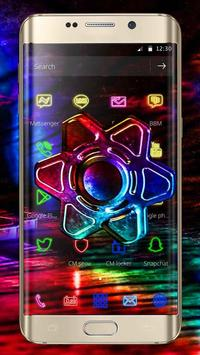 Neon Fidget Spinner Theme screenshot 2