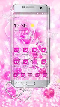 Diamond Pink Rose poster