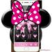 Pink Black Minny Bowknot Theme
