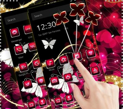 Neon Color Butterfly Diamond Theme screenshot 1