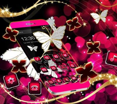Neon Color Butterfly Diamond Theme screenshot 3
