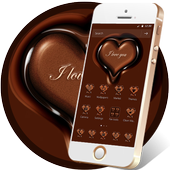 Chocolate Heart Shape theme icon