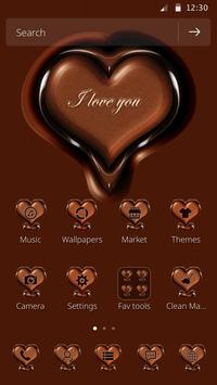 Chocolate Heart Shape theme poster
