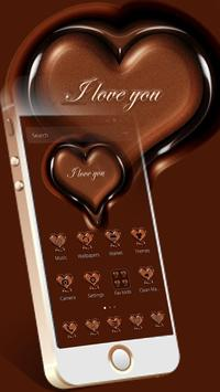 Chocolate Heart Shape theme apk screenshot