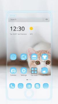 Cat Theme Blue poster