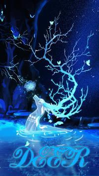 (FREE)Deer Night Sky Luancher Theme poster