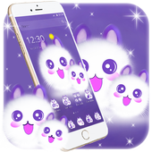 Cute Fluffy Kitten Kawaii Cat Theme icon