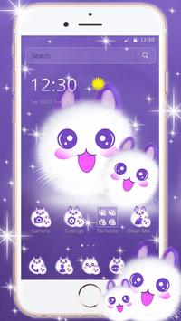 Cute Fluffy Kitten Kawaii Cat Theme poster