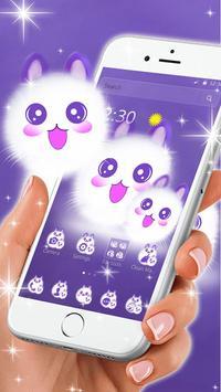 Cute Fluffy Kitten Kawaii Cat Theme screenshot 1