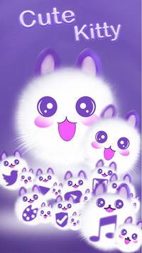 Cute Fluffy Kitten Kawaii Cat Theme screenshot 2