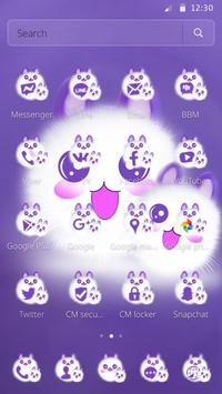 Cute Fluffy Kitten Kawaii Cat Theme apk screenshot