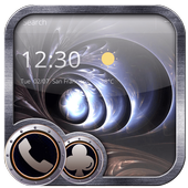 Metal material art spiral theme Black hole icon