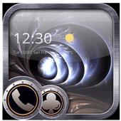 Metal material art spiral theme Black hole icon