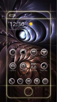 Metal material art spiral theme Black hole screenshot 1