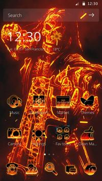 Wonder Fire Gun skull Theme Love Sparkly poster
