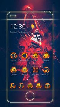 Cool Basketball NBA theme keyboard poster